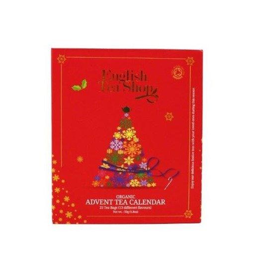 Advent Tea Calendar - kalendarz adwentowy czerwony 25 piramidek