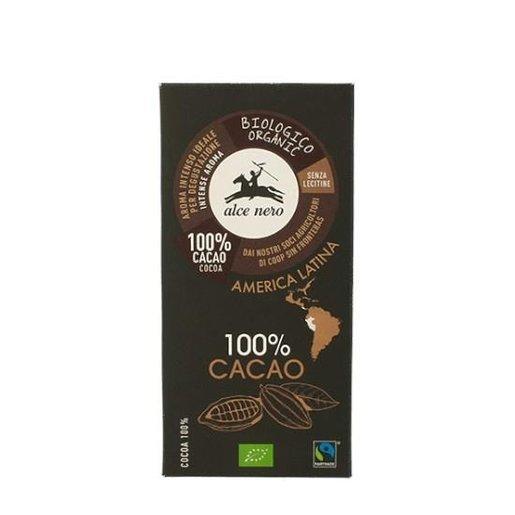 Alce Nero 100% Cacao - czekolada gorzka BIO 50g