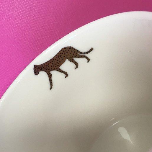 Biały kubek z gepardami 400 ml