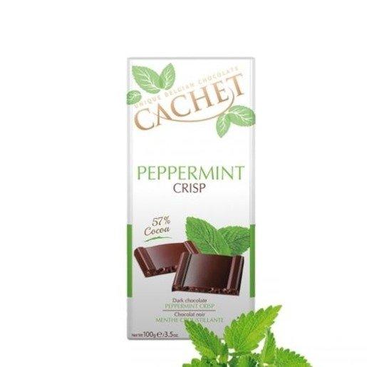 Cachet - Czekolada Peppermint Crisp 57% Cocoa 100g