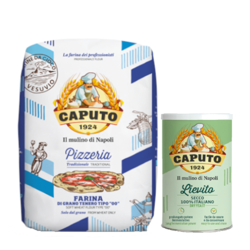 Caputo Pizzeria włoska mąka do pizzy 5kg + drożdże