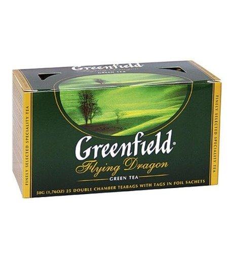 Greenfield Flying Dragon - 25 saszetek zielonej herbaty