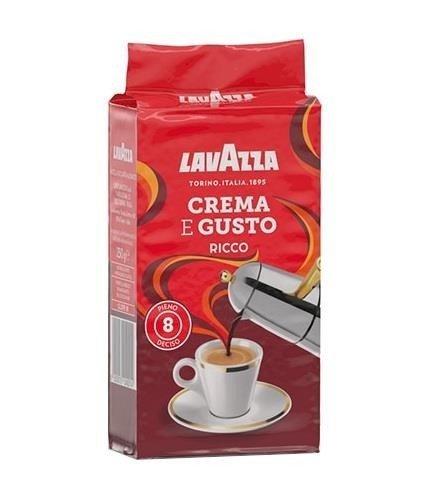 Lavazza Crema e Gusto Ricco 250g kawa mielona 6szt