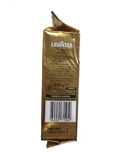 Lavazza Qualita Oro 250g NA RYNEK WŁOSKI mielona