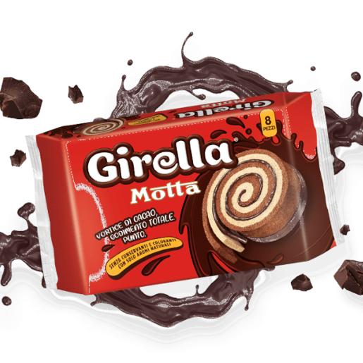 Motta Girella - miękkie bułeczki z kremem kakaowym 280 g
