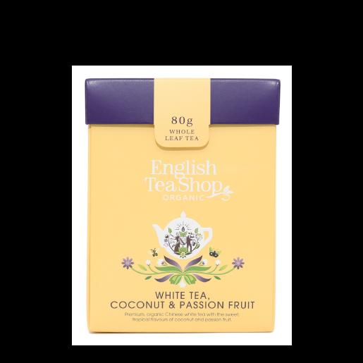 White Tea, Coconut & Passion Fruit herbata sypana 80g