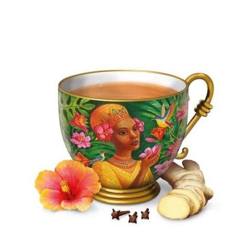 Yogi Tea - Ginger Hibiskus 17 saszetek herbaty z imbirem i hibiskusem